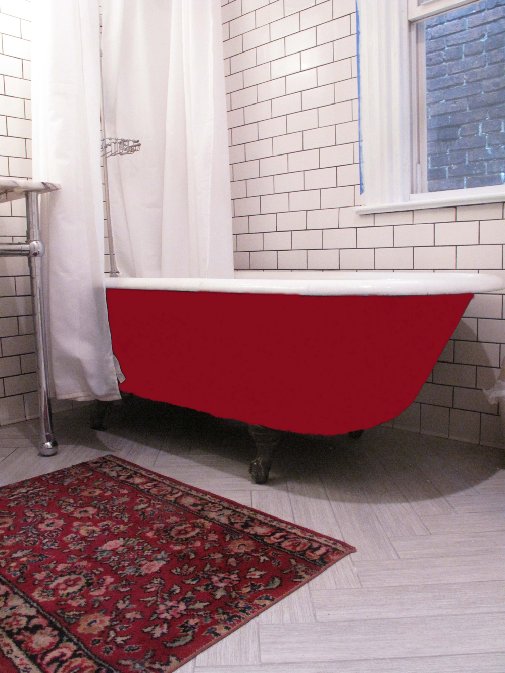 Red Bathtub The Hippest Pics