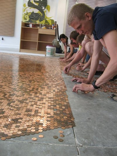 tile images installed floors best newly my pinterest tiles penny pennies floor mosaic and on